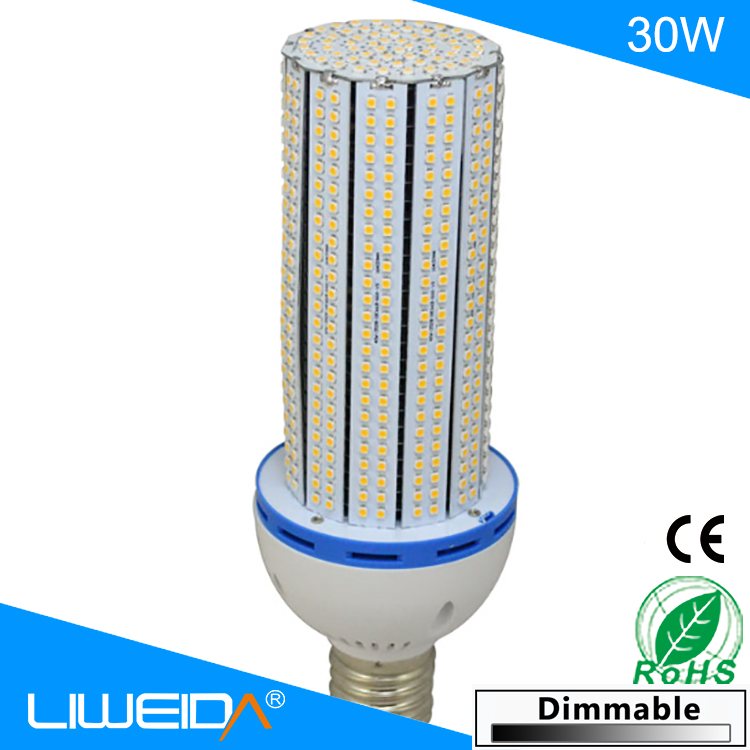 factory price 2016 new 30w led corn light e27 e40 with CE&RoHS certified