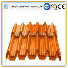 wuxi red steel roofing sheet corrugated prepainted galvanized steel sheet for roof wall panel