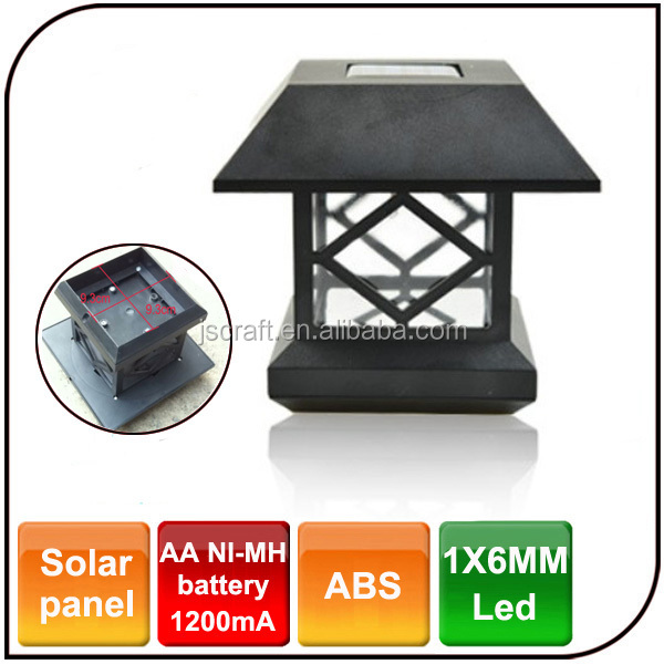 led waterproof powered by solar pannel garden light solar light fence post cap