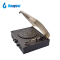 portable vintage retro lp turntable vinyl record player with am/fm radio
