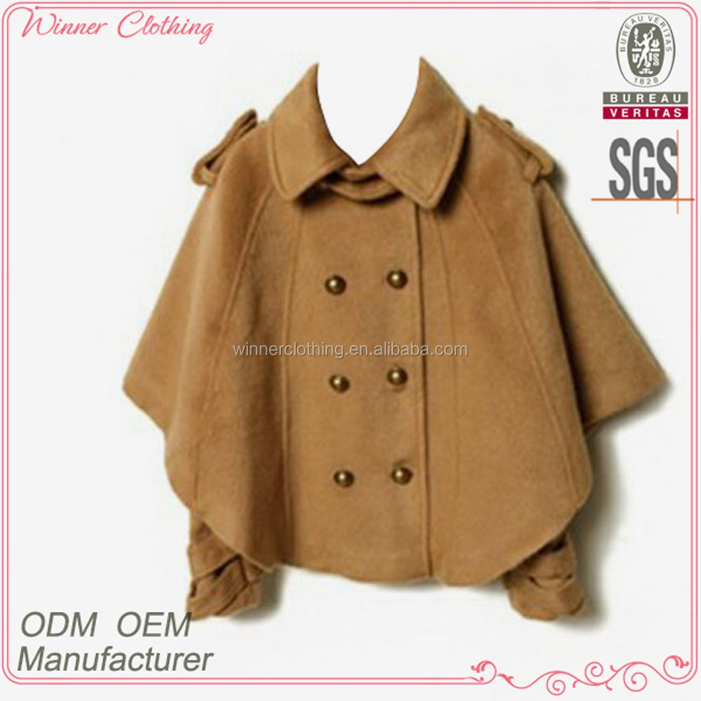 trendy long sleeve double breasted asian fashion winter coats
