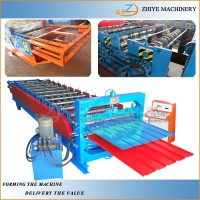 Glazed tile and Roof panel double layer roll forming machine/ Double Layer Cold Forming Manufacturing Line