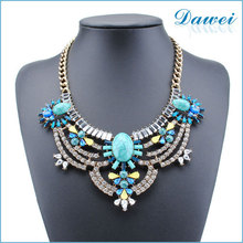 foreign trade fine jewelry african necklaces blue amber diamond necklace accessories