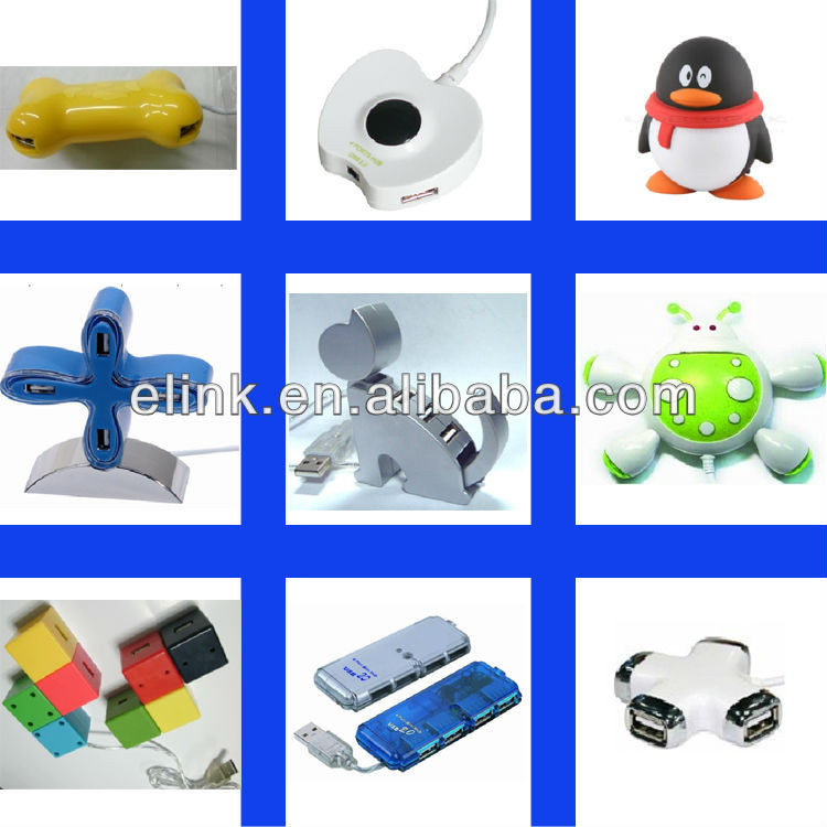 Hot Smiley USB Hub Wholesale 4 USB ports