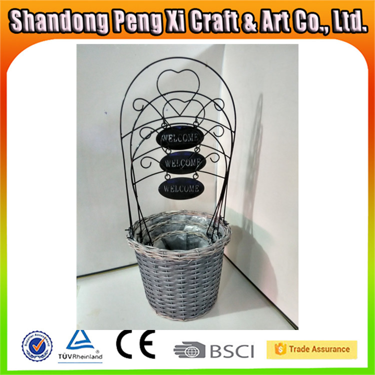 Wholesale Metal Wood Chip Hanging Basket