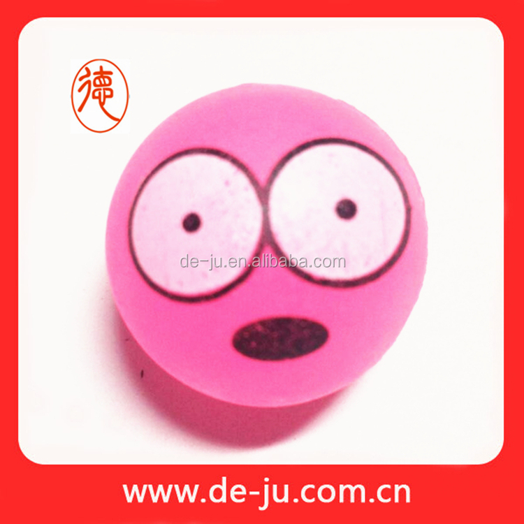 Astoundingly printing pink gift cheap soft rubber ball