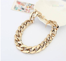 Women all-match thick Choker Chunky necklace Shiny chain