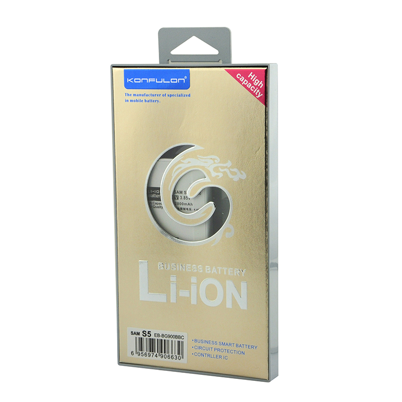 konfulon Original Capacity 2800mAh replacement battery For Samsung Galaxy S5 Li-ion battery i9600