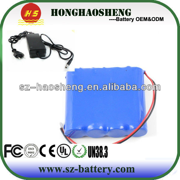 Customized Rechargeable 5S1P 18650 18v 4ah Li-ion battery/18v li-ion battery pack