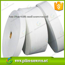 alibaba offer 3cm width 80gsm 200 meter /roll non woven interlining fabric roll for bags binding