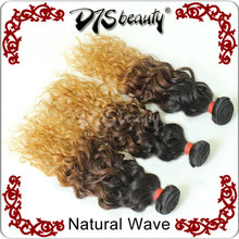New fashion style! Hot sell natural human brazilian three tone colored body wave ombre hair weaves