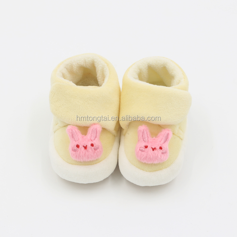 Newborn baby toddler shoes with soft sole pink rabbit