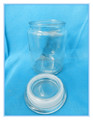 700ml Round White Coffee Bean Glass Jar with Glass Lid