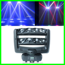 New Style 10 Watt 8 Pieces white Moving Head Led Beam/Led Spider/Beam Moving Head Light