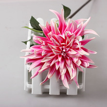 Real Touch Faux Flower Pu Dahlia Flower Bunch Artificial Spring Flowers For Home Decor Wedding Bouquets And Centerpieces