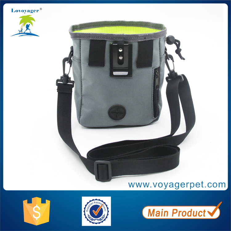 Lovoyager pet accessories outdoor pet training bag with waist belt nylon dog treat pouch