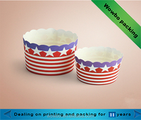 Disposable mini single wall paper cups for ice cream/cupcake/yoghourt/baking packaging