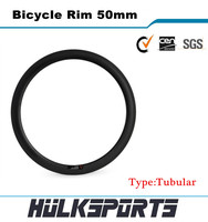 Super light 700c carbon road bike rims tubular 23mm width carbon bicycle rim 50mm 16H-36H