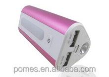 Dual USB Mobile Power Bank Charger, 6,000/6,600/7,800mAh Capacity,5V 1.5A output