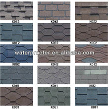 12 Colors Asphalt Shingle Roofing