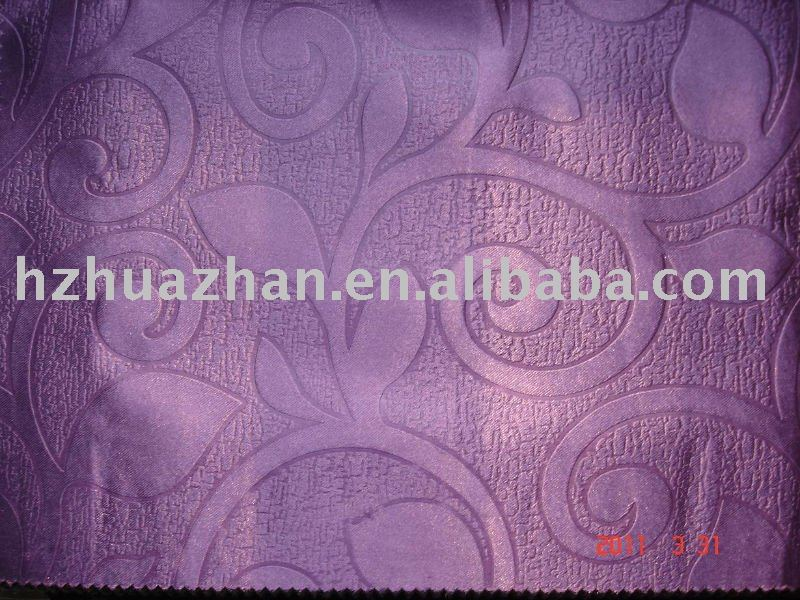 FR M1 embossing satin blackout fabric