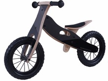 "12"" Wooden balance bike Classic Wooden Bicycles as Baby Balance Toy"