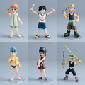 6PCS/SET CUTE JAPANNESE ANIME PLASTIC ACTION FIGURE ONE PIECE/CUSTOM ANIME PVC POP ONE PIECE ACTION FIGURE