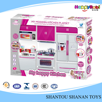Cute Funny Toy Plastic Kitchen Pretend Playset For Kids