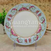 Best Selling Items Porcelain Custom Logo Ceramic Plates Dishes