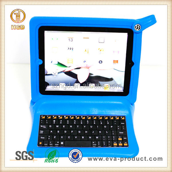 blue soft big foam frame and stand for ipad 2 3 case