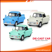 Mini battery powered metal model children model toy 1:38 scale diecast car
