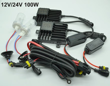 Wholesale hid kits 100 watt hid xenon kit 24v hid kit h4 hid xenon bulb 100W hid conversion kit