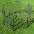 "32"" heavy duty dog playpen pet cage exercise pen fence house"