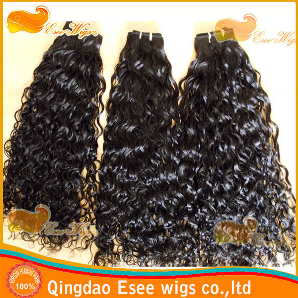 2014Factory wholesale 100% human hair 1b color pretty curly,malaysian virgin hair extension 100g/pcs 8-32inch stock