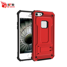 Kickstand car magnetic mobile phone case cover for iphone 5 5s ,red shockproof mobile phone case for iphone 5 cover