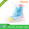 2015 high quality women rain boots pvc transparent boots
