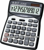 12 digits lcd display function tables solar cell calculator KT-9812N