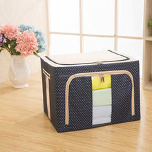 Baby Clothes Organizer, Collapsible Storage Box Oxford Fabric Steel Shelf Lidded Closet Organizer