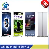Motorcycle race banner stand