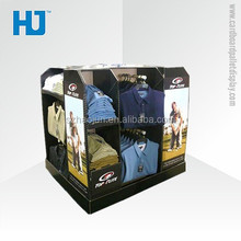 Hot sales metal hanging clothes cardboard display racks for shop cardboard t shirt display stands