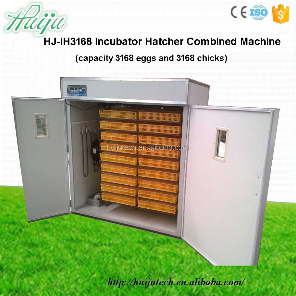 High quality incubator hatcher combined machine HJ-IH3168 for 3168 chicken eggs
