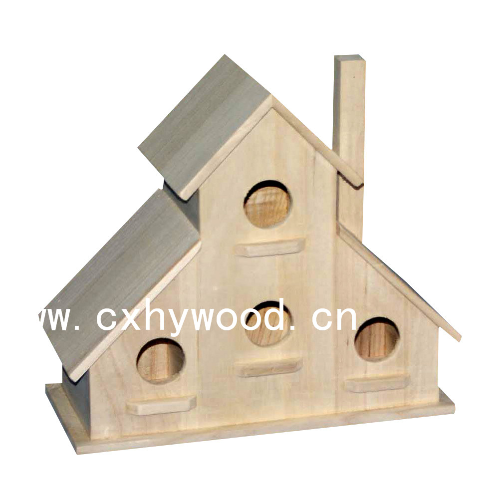 Custom wooden bird house eco friendly unfinished wood bird feeder cage