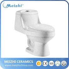 Ceramic siphonic water saving one piece toilet