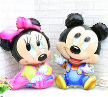 Hot selling Colorful mickey and minnie custom helium balloons christmas gift decoration