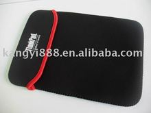 Black neoprene laptop sleeve bag