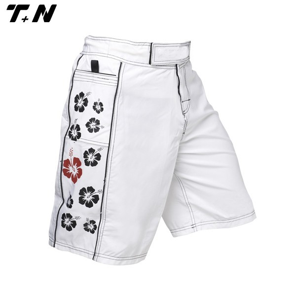 Blank white MMA shorts for men