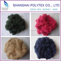 recycle dope dyed polyester staple fiber 3d*51mm china manufacture for non woven factory with great low price