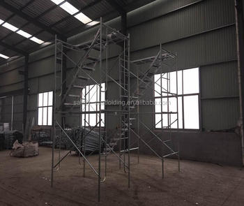 scaffolding metal ladder