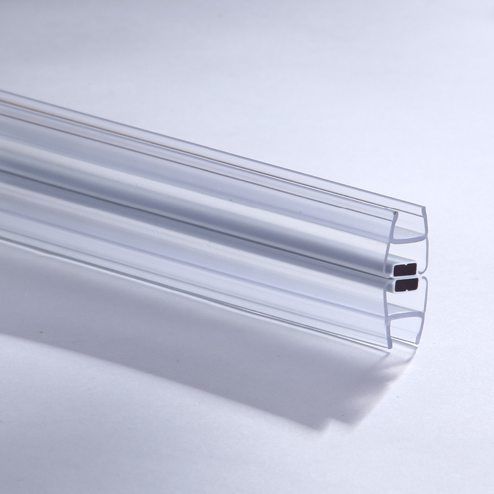 Glass Sliding Door Magnetic Pvc Seal Strip 180 Degree