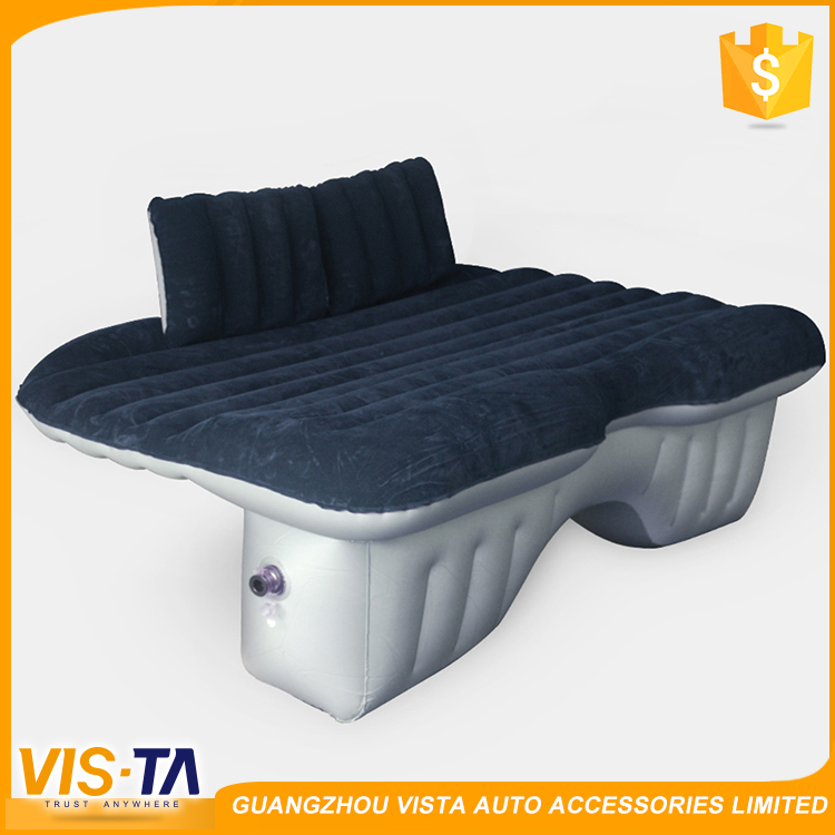 Latest design car interior accessories inflatable gray color thicken backseat car air bed inflatable mattress for car
